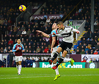 Burnley's Ashley Barnes battles with Fulham's Maxime Le Marchand<br /> <br /> Photographer Alex Dodd/CameraSport<br /> <br /> The Premier League - Burnley v Fulham - Saturday 12th January 2019 - Turf Moor - Burnley<br /> <br /> World Copyright © 2019 CameraSport. All rights reserved. 43 Linden Ave. Countesthorpe. Leicester. England. LE8 5PG - Tel: +44 (0) 116 277 4147 - admin@camerasport.com - www.camerasport.com