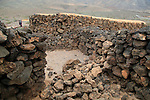 Ruins of pre-Spanish Mahos village, Poblado de la Atalayita, Pozo Negro, Fuerteventura, Canary Islands, Spain