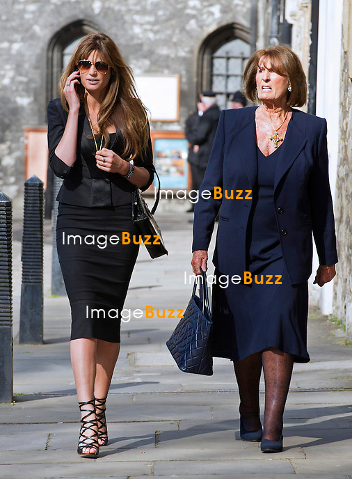 JEMIMA KHAN AND MOTHER ANNABEL GOLDSMITH<br /> attends Sir David Frost Memorial Service, Westminster Abbey, London_13/03/2014