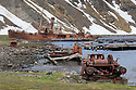 Grytviken was the largest whaling station on South Georgia. It was made made famous by Shackleton's reunion with civilization on South Georgia after losing his ship, the Endurance, to Antarctic pack ice in 1915. Grytviken, South Georgia. November.