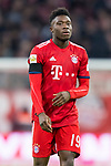 09.02.2019, Allianz Arena, Muenchen, GER, 1.FBL,  FC Bayern Muenchen vs. FC Schalke 04, DFL regulations prohibit any use of photographs as image sequences and/or quasi-video, im Bild Alphonso Davies (FCB #19) <br /> <br />  Foto &copy; nordphoto / Straubmeier
