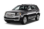 2016 GMC Terrain Denali 5 Door SUV Angular Front stock photos of front three quarter view