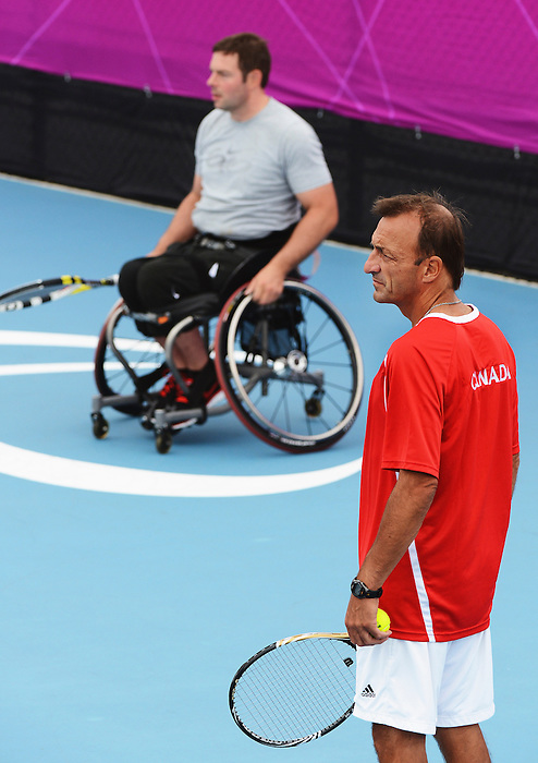 LONDON, ENGLAND – 08/24/2012: Christian Gingras during a training session at the London 2012 Paralympic Games at Eton Manor. (Photo by Matthew Murnaghan/Canadian Paralympic Committee)