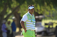 Kiradech Aphibarnrat (THA) in action on the 3rd during the Matchplay Final of the ISPS Handa World Super 6 Perth at Lake Karrinyup Country Club on the Sunday 11th February 2018.<br /> Picture:  Thos Caffrey / www.golffile.ie<br /> <br /> All photo usage must carry mandatory copyright credit (&copy; Golffile | Thos Caffrey)