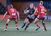 22nd March 2018, Select Security Stadium, Widnes, England; Betfred Super League rugby, Widness Vikings versus Salford Red Devils; Danny Walker takes on Craig Kopczak