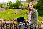Carmel Conway working remotely from home on Thursday, who works for Shine Mental Health services, supporting people affected by Mental Health issues.