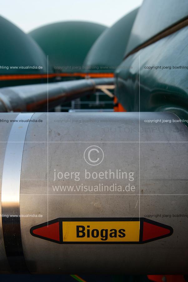 TURKEY Bandirma, Edincik, 2.1 MW biogas plant of company Telko where chicken dung from surrounded chicken farms is fermented to gas which is used for generation of electric power, biogas plant was installed by german company Bioconstruct / TUERKEI Bandirma, Edincik, 2.1 MW Biogasanlage der Firma Telco, hier wird Huehnermist von umliegenden Huehnereier Legebatterien zu Biogas und Strom, die Anlage wurde von der deutschen Firma BioConstruct errichtet