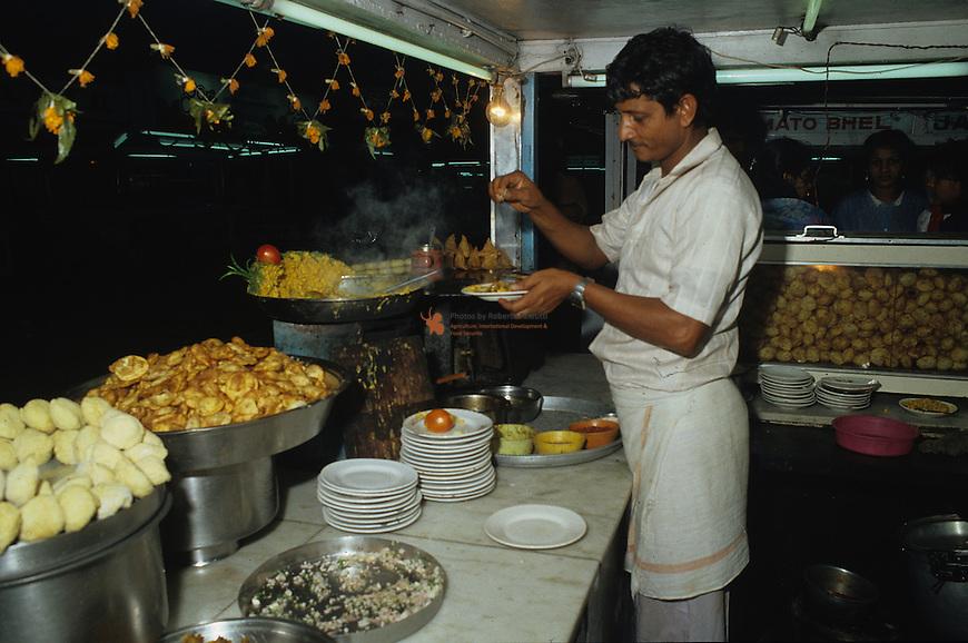 Street Food vendor at work