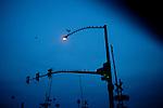 Along Grand Avenue in Sun City before sunrise January 10, 2010.