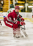 15 November 2015: University of Massachusetts Minuteman Defenseman Callum Fryer, a Freshman from Oakville, Ontario, in action against the University of Vermont Catamounts at Gutterson Fieldhouse in Burlington, Vermont. The Minutemen rallied from a three goal deficit to tie the game 3-3 in their Hockey East matchup. Mandatory Credit: Ed Wolfstein Photo *** RAW (NEF) Image File Available ***