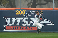 SAN ANTONIO, TX - FEBRUARY 2, 2009: The University of North Texas Mean Green vs. The University of Texas at San Antonio Roadrunners Softball at Roeadrunner Field. (Photo by Jeff Huehn)