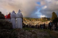 Un momento della cerimonia del Venerd&igrave; Santo di Corleone.<br /> A moment of the Good Friday ceremony in the Sicilian town of Corleone