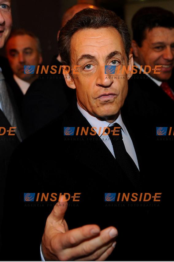 Nicolas Sarkozy .Presidente della Repubblica Francese, candidato alle presidenziali del 2012..25/02/2012 Parigi.Salone dell'Agricoltura 2012.Photo Insidefoto / Gerard Roussel ..ITALY ONLY..