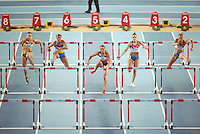 ISTAMBUL, TURQUIA, 09 DE MARCO 2012 - MUNDIAL DE ATLETISMO INDOOR - <br /> Jessica Ennis ( C ) atleta da Inglaterra lidera o grupo no pentatlo para mulheres  no Mundial de Atlestismo Indoor na Arena Atakoy em Istambul na Turquia, nesta sexta-feira, 09 marco. (FOTO: CHRISTIAN CHARISIUS  / BRAZIL PHOTO PRESS).