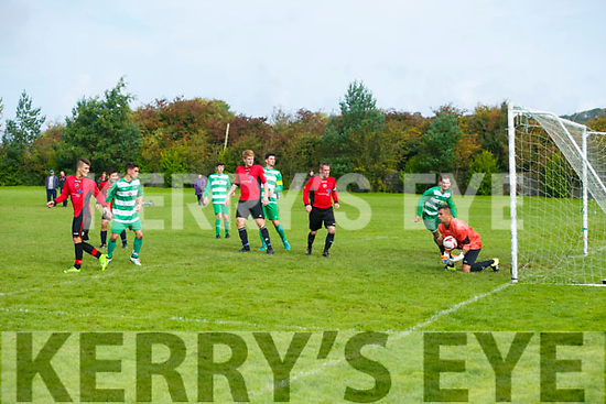 Action at the  Tralee Dynamos v Killarney Celtic at Cahermoneen on Sunday