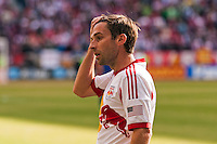 Bobby Convey (15) of the New York Red Bulls. The New York Red Bulls and the Colorado Rapids played to a 1-1 tie during a Major League Soccer (MLS) match at Red Bull Arena in Harrison, NJ, on March 15, 2014.