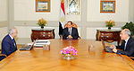 Egyptian President Abdel Fattah al-Sisi meets with Minister of Education Tarek Shawki, in Cairo, Egypt, on October 18, 2017. Photo by Egyptian President Office