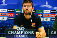 27.03.2012 MILANO, Itali - UEFA Champions League Press conference. the picture show Gerard Pique Bernabeu (Spanish defender of Barcelona)...