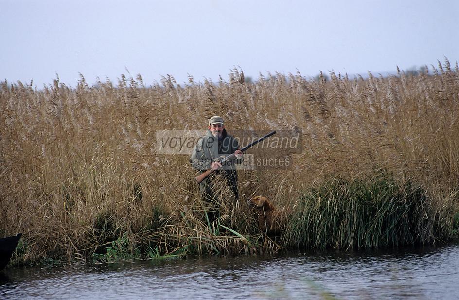 Europe/France/Pays de la Loire/44/Loire-Atlantique/Parc Naturel Régional de Brière/Ile Fedrun: Chasse dans les marais avec Alain Divet - AUTORISATION N°236
