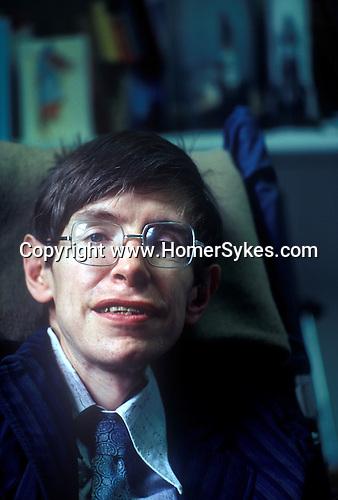 STEPHEN HAWKING Portrait photograph 1980s CAMBRIDGE UNIVERSITY