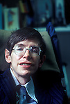 STEPHEN HAWKING Portrait photograph 1980s CAMBRIDGE UNIVERSITY