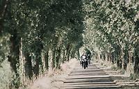 race leaders + TV moto approaching<br /> <br /> 92nd Schaal Sels 2017 <br /> 1 Day Race: Merksem > Merksem (188km)