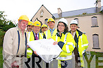 REDEVELOPMENT: Signing the contract for the redevelopment of the former convent at Moyderwell on Tuesday morning from front l-r were: Joe Power (resident), Lorcan Hoyne (L & M Keating Contractors), Arthur Spring (Mayor of Tralee), Madeline Hallinan (National Building Agency) and Norman Jackson (National Building Agency). Back l-r were: Peter Colleran and Michael McMahon (Town Manager). .... and Michael McMahon (Town Manager) . Back l-r were: Madeline Hallinan (National Building Agency) and Tim McSwiney (Tralee Town Council).