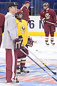Greg Brown, Nate Gerbe - The Boston College Eagles took their morning skate on Saturday, April 8, 2006, at the Bradley Center in Milwaukee, Wisconsin to prepare for the 2006 Frozen Four Final game versus the University of Wisconsin.