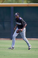 Colorado Rockies Wes Rogers (25) during practice before an instructional league game against the SK Wyverns on October 10, 2015 at the Salt River Fields at Talking Stick in Scottsdale, Arizona.  (Mike Janes/Four Seam Images)