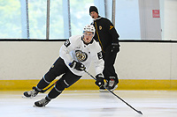 June 26, 2018: Boston Bruins defenseman Dustyn McFaul (38)  skates during the Boston Bruins development camp held at Warrior Ice Arena in Brighton Mass. Eric Canha/CSM