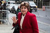 NEW YORK, NEW YORK - JANUARY 6: Gloria Allred arrives at the Manhattan courthouse for the Harvey Weinstein trial. On January 6, 2020 in New York City. Weinstein pleaded not guilty to five counts of rape and faces a possible life sentence in prison. (Photo by Pablo Monsalve / VIEWpress)