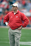 MADISON, WI - SEPTEMBER 9: Assistant coach Dave Doeren of the Wisconsin Badgers watches the Badgers during warmups prior to the game against the Western Illinois Leathernecks at Camp Randall Stadium on September 9, 2006 in Madison, Wisconsin. The Badgers beat the Leathernecks 34-10. (Photo by David Stluka)