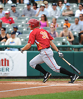 Altoona Curve outfielder Alex Dickerson (30) during game against the Trenton Thunder at ARM & HAMMER Park on July 24, 2013 in Trenton, NJ.  Altoona defeated Trenton 4-2.  Tomasso DeRosa/Four Seam Images