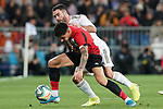 Real Madrid's Dani Carvajal (b) and Athletic Club de Bilbao's Yuri Berchiche during La Liga match. December 22,2019. (ALTERPHOTOS/Acero)