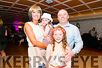 Marie Carroll O'Sullivan celebrated her 40th birthday surrounded by friends and family in the Avenue Hotel, Killarney last Saturday night. Pictured with her husband Ivan and two daughters Rhea and Clodagh.