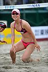 Miki Oyama (JPN),.MAY 4, 2012 - Beach Volleyball : JBV Tour 2012 Sports Club NAS Open at Odaiba Beach, Tokyo, Japan. (Photo by Jun Tsukida/AFLO SPORT) [0003].
