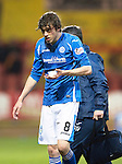 Partick Thistle v St Johnstone&hellip;23.02.16   SPFL   Firhill, Glasgow<br />Murray Davidson goes off injured<br />Picture by Graeme Hart.<br />Copyright Perthshire Picture Agency<br />Tel: 01738 623350  Mobile: 07990 594431