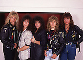 HOUSE OF LORDS - L-R: Gregg Giuffria, Lanny Cordola, James Christian, Ken Mary, Chuck Wright - photographed backstag at the Westfalenhalle in Dortmund Germany - 30 May 1989.  Photo credit: George Chin/IconicPix