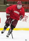 Sean Malone (Harvard - 17) - The Harvard University Crimson practiced on Friday, October 22, 2013, at Bright-Landry Hockey Center in Cambridge, Massachusetts.