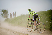 Mikel Aristi (ESP/Euskadi Basque Country - Murias) racing over the Breton gravel roads<br /> <br /> 36th TRO BRO LEON 2019 (FRA)<br /> One day race from Plouguerneau to Lannilis (205km)<br /> <br /> ©kramon