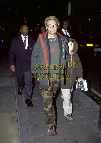 "DAVE STEWART.""Blair Witch Project"" Film Premiere, Metro Cinema,.London, England, 8th October 1999..full length combat trousers green jacket coat glasses.CAP/AH.©Adam Houghton/Capital Pictures."