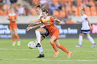 Houston, TX - Thursday Aug. 18, 2016: Christine Nairn, Caity Heap during a regular season National Women's Soccer League (NWSL) match between the Houston Dash and the Washington Spirit at BBVA Compass Stadium.