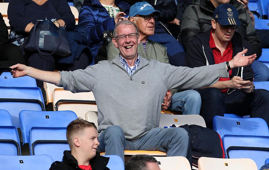 Blackburn Rovers fans enjoy the pre-match atmosphere <br /> <br /> Photographer David Shipman/CameraSport<br /> <br /> The EFL Sky Bet League One - Shrewsbury Town v Blackburn Rovers - Saturday 23rd September 2017 - New Meadow - Shrewsbury<br /> <br /> World Copyright &copy; 2017 CameraSport. All rights reserved. 43 Linden Ave. Countesthorpe. Leicester. England. LE8 5PG - Tel: +44 (0) 116 277 4147 - admin@camerasport.com - www.camerasport.com