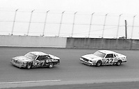 Tim Richmond 27 Bobby Allison 22 action Firecracker 400 at Daytona International Speedway in Daytona Beach, FL on July 4, 1983. (Photo by Brian Cleary/www.bcpix.com)