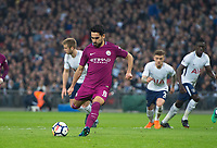 Manchester City Ilkay Gundogan take spot kick during the Premier League match between Tottenham Hotspur and Manchester City at Wembley Stadium, London, England on 14 April 2018. Photo by Andrew Aleksiejczuk / PRiME Media Images.