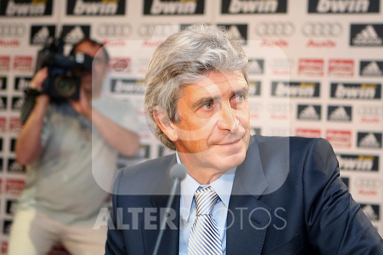 Real Madrid's new coach Manuel Pellegrini.June 2 2009. (ALTERPHOTOS/Acero).