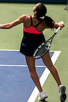 NEW YORK, NY - August 26, 2013: Lara Arruabarrena (ESP) during her first round single's match at the 2013 US Open in New York, NY on Monday, August 26, 2013.