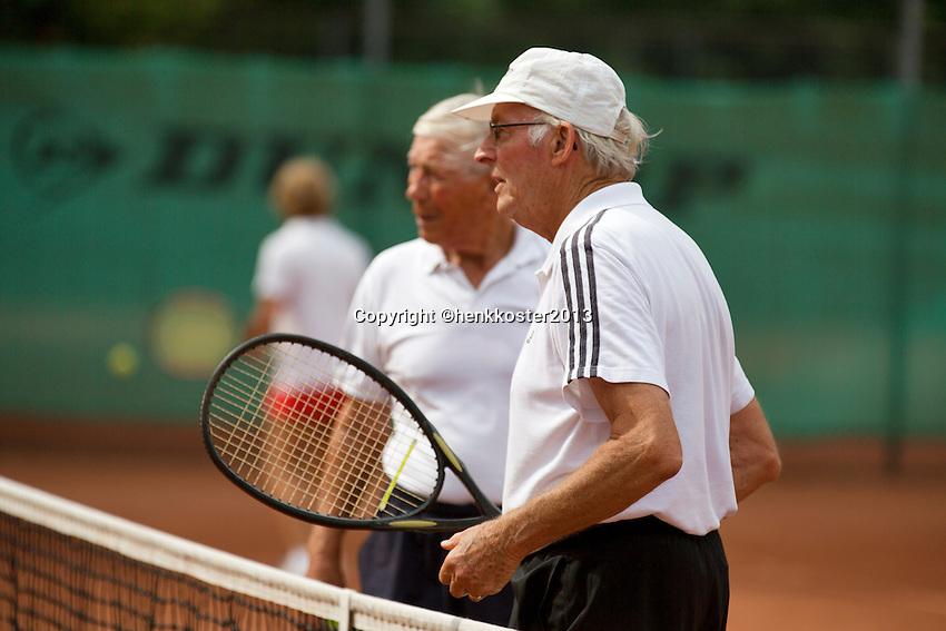 2013,August 21,Netherlands, Amstelveen,  TV de Kegel, Tennis, NVK 2013, National Veterans Tennis Championships,   doubles 65+<br /> Photo: Henk Koster