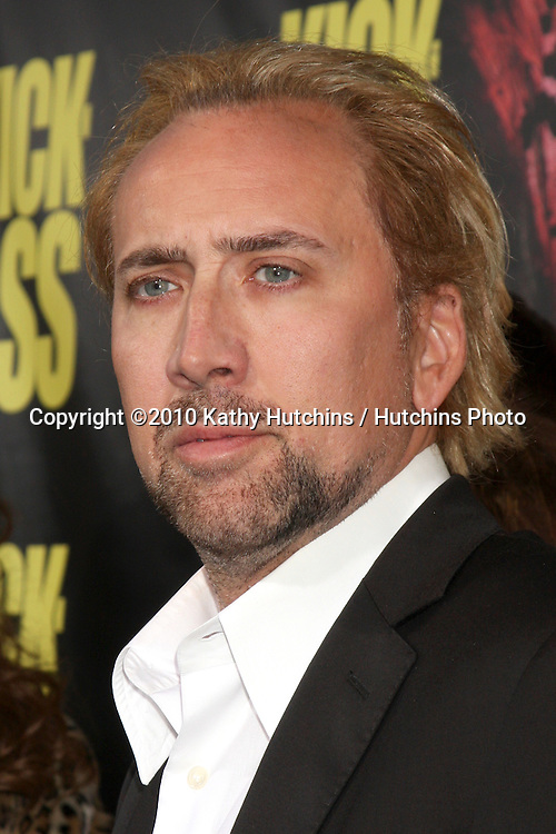 "Nicolas Cage.arrives at  the ""Kick-Ass"" Premiere.ArcLight Dome Theater.Los Angeles, CA.April 13, 2010.©2010 Kathy Hutchins / Hutchins Photo..."