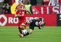 11 September 2010: D.C. United midfielder Kurt Morsink #6 and Toronto FC forward Dwayne De Rosario #14 in action during a game between DC United and Toronto FC at BMO Field in Toronto..DC United won 1-0..